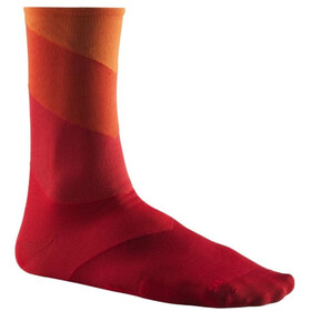 Mavic Graphic Stripes Socks Puff Bill/Goji Berry